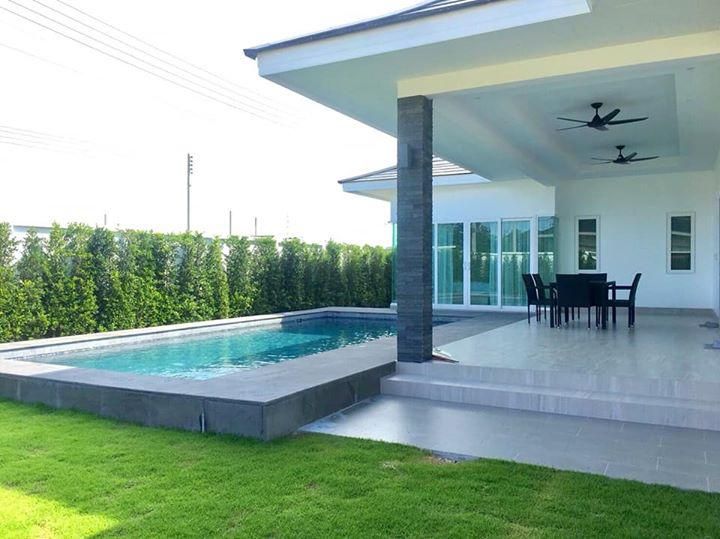 Newly-built 3 Bedroom Pool Villas For Sale – Only 6 km to Hua Hin center