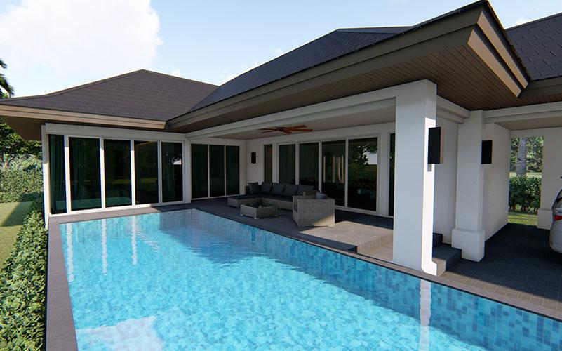 Neugebaute 3 Schlafzimmer Pool Villen zum Kaufen in Hua Hin – Nur 6 km vom Stadtzentrum entfernt!