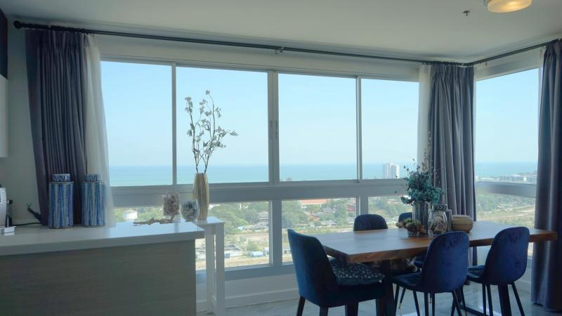 Large 3 Bedroom Sea-View Condo For Sale on 20th Floor, Hua Hin