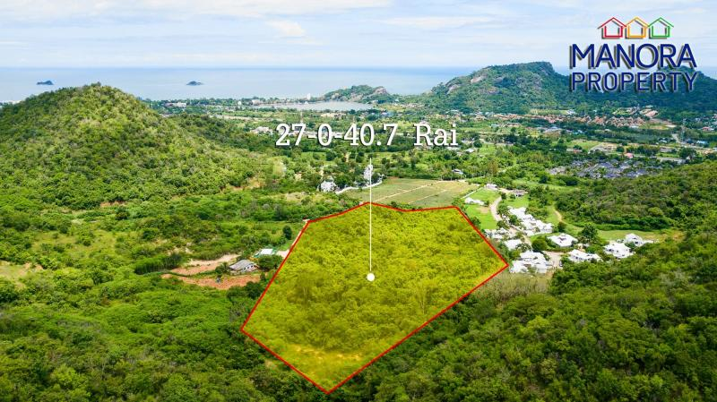 27 Rai Gebirgsland zum Verkauf in der Soi 156 in Khao Tao, Hua Hin – Unbegrenztes Entwicklungspotential!