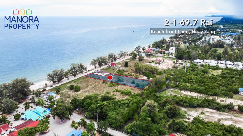 Beautiful Beach Land For Sale at Ban Huay Yang – 20m Beach frontage!