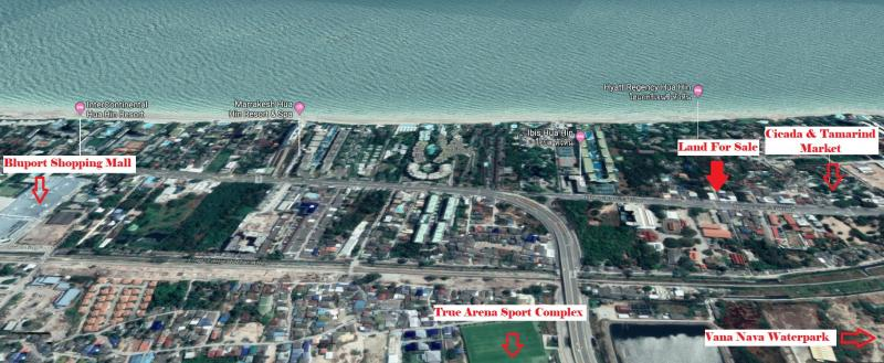 Attractive Plot of Land for Sale in Khao Takiab, Hua Hin – Suitable for a 7 story building!