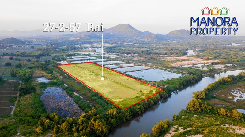 REDUCED! 28 Rai of Land For Sale at Pranburi River – 126 m of River frontage!