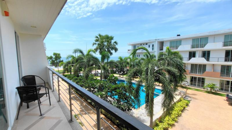 Large & Furnished 2 bedroom Beachfront condo for sale in Pranburi – Great Price!