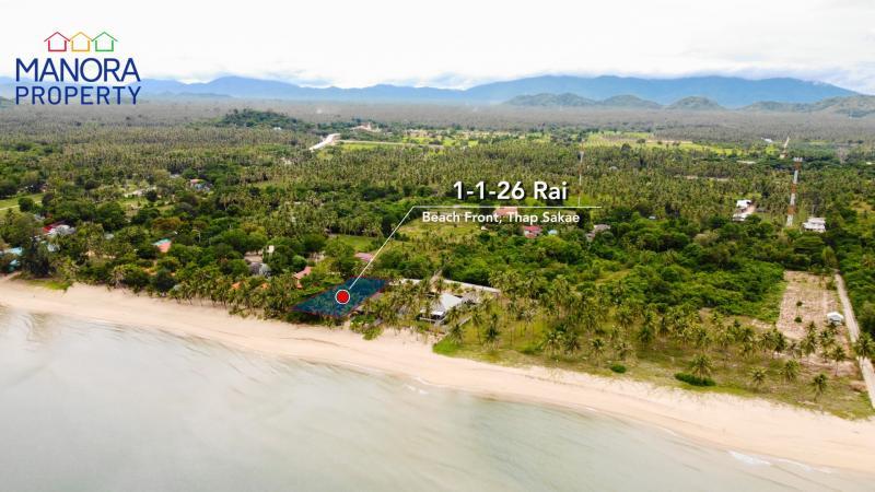 Absolute beachfront land for sale in Thap Sakae, Prachuap Khiri Khan – 129 km from Hua Hin (1h 30 min)!