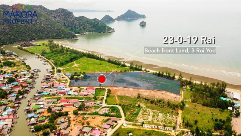 23 Rai Beachfront land for sale in Sam Roi Yot – Great location and Price!
