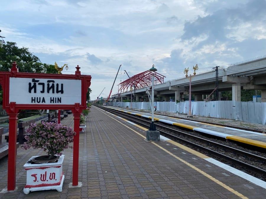 Progress of new dual track rail line in Hua Hin (Drone footage)