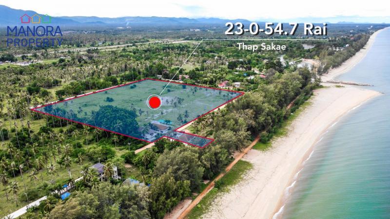 23 Rai land for sale with Beach access, Baan Huay Yang